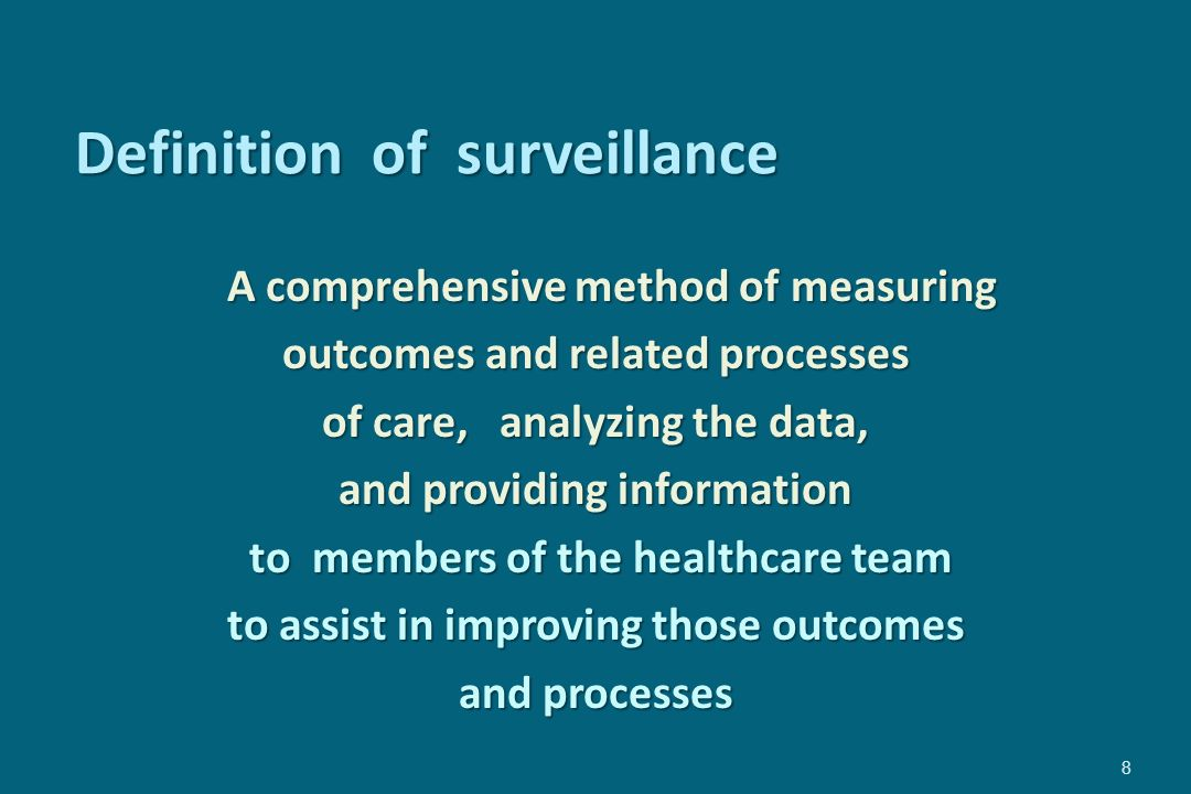 Definition of surveillance