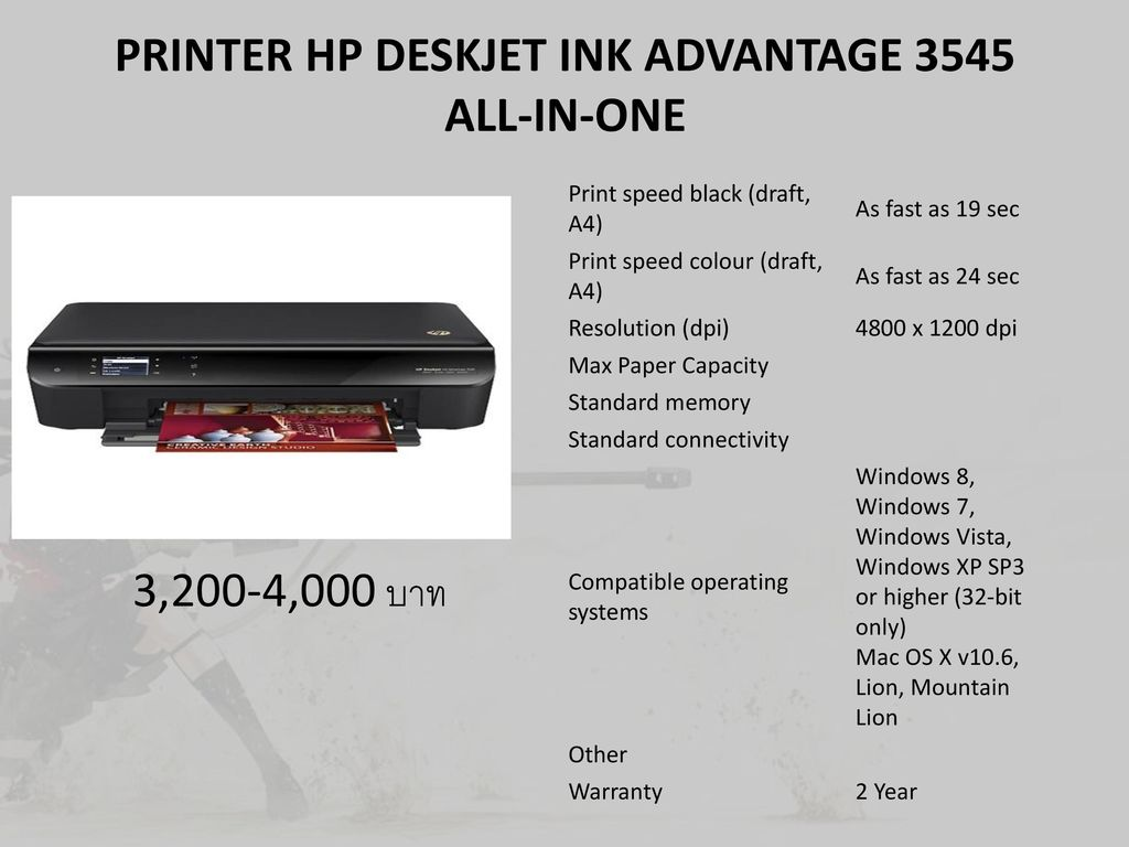 PRINTER HP DESKJET INK ADVANTAGE 3545 ALL-IN-ONE