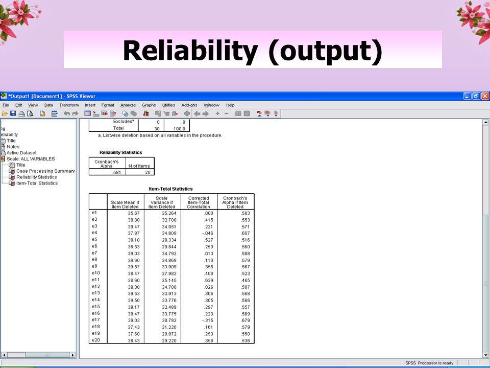Reliability (output)