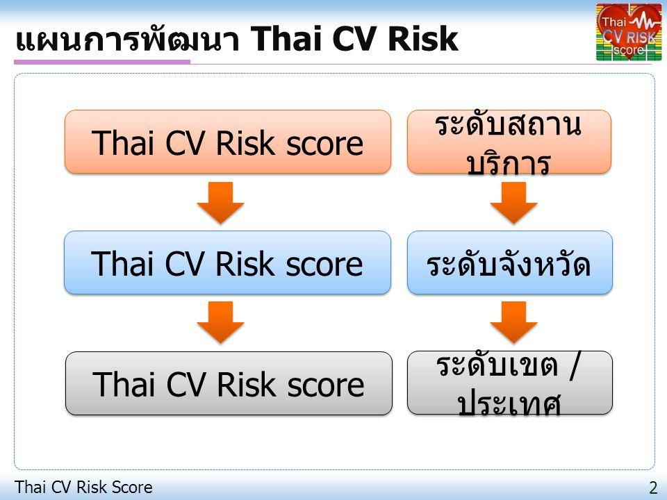 แผนการพัฒนา Thai CV Risk