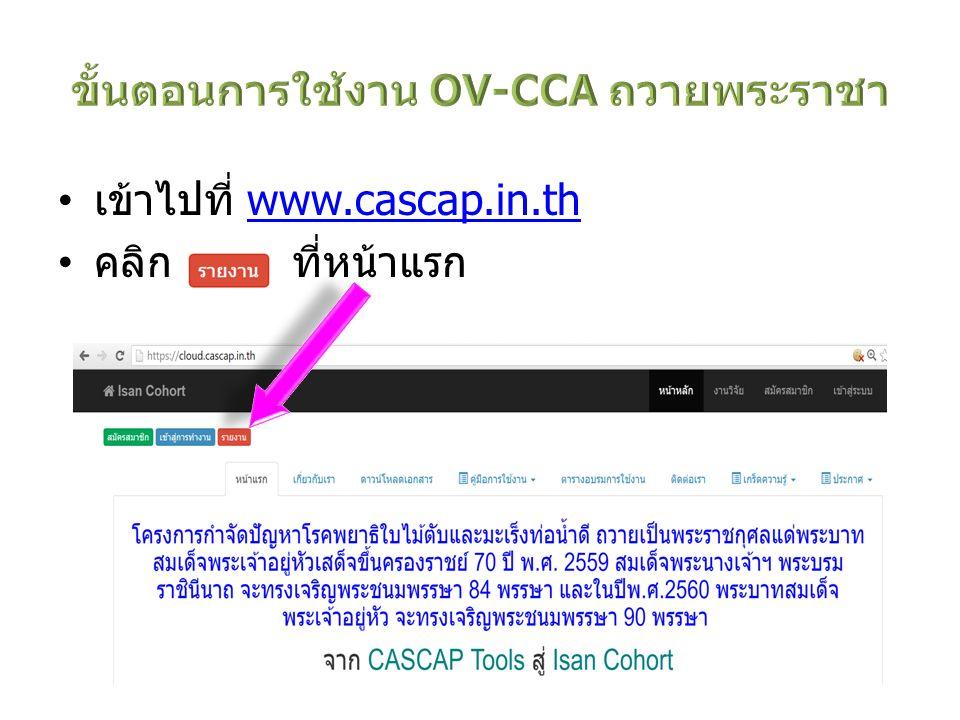 ขั้นตอนการใช้งาน OV-CCA ถวายพระราชา
