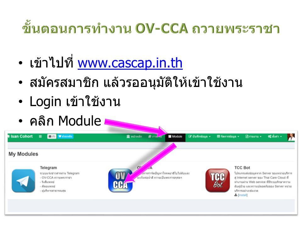 ขั้นตอนการทำงาน OV-CCA ถวายพระราชา