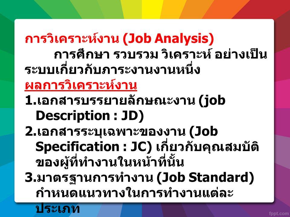 การวิเคราะห์งาน (Job Analysis)