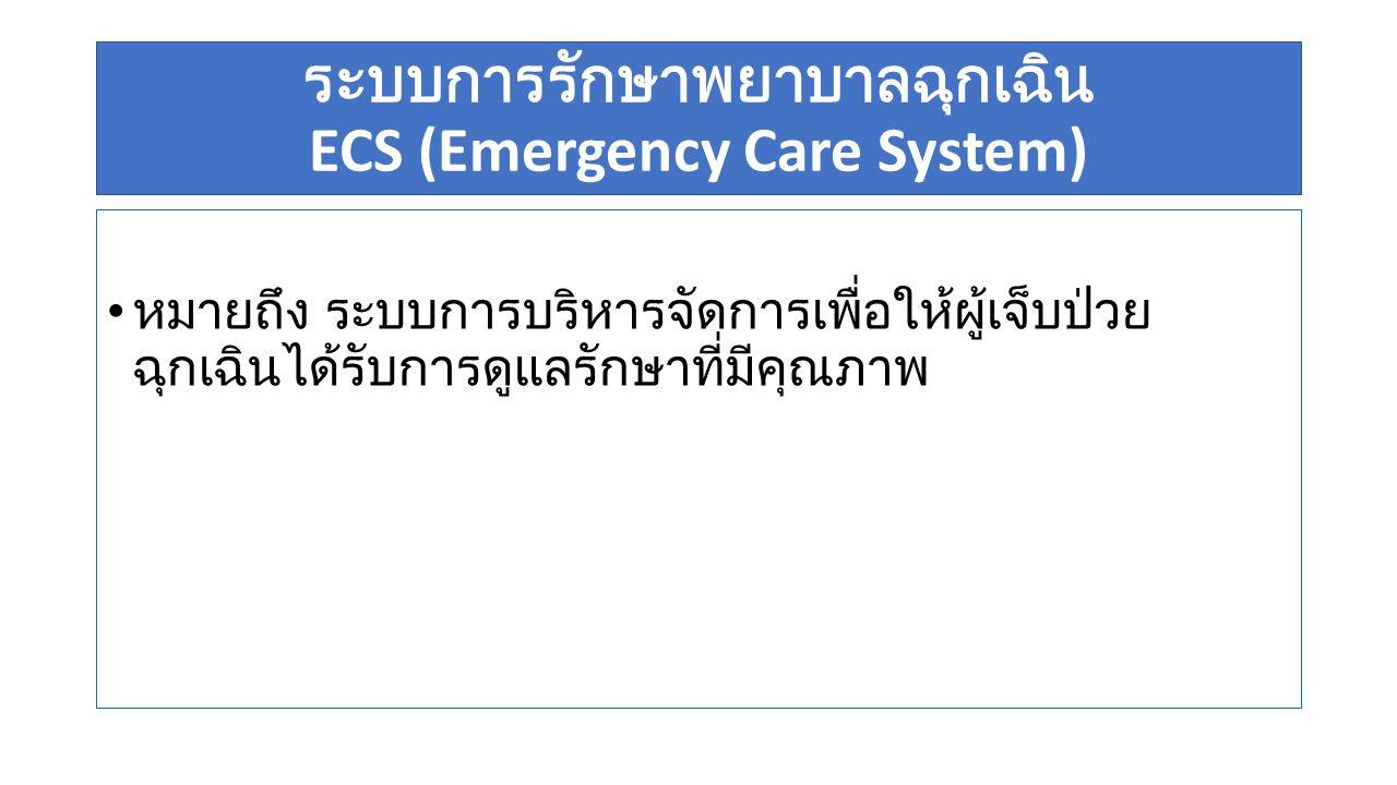 ระบบการรักษาพยาบาลฉุกเฉิน ECS (Emergency Care System)