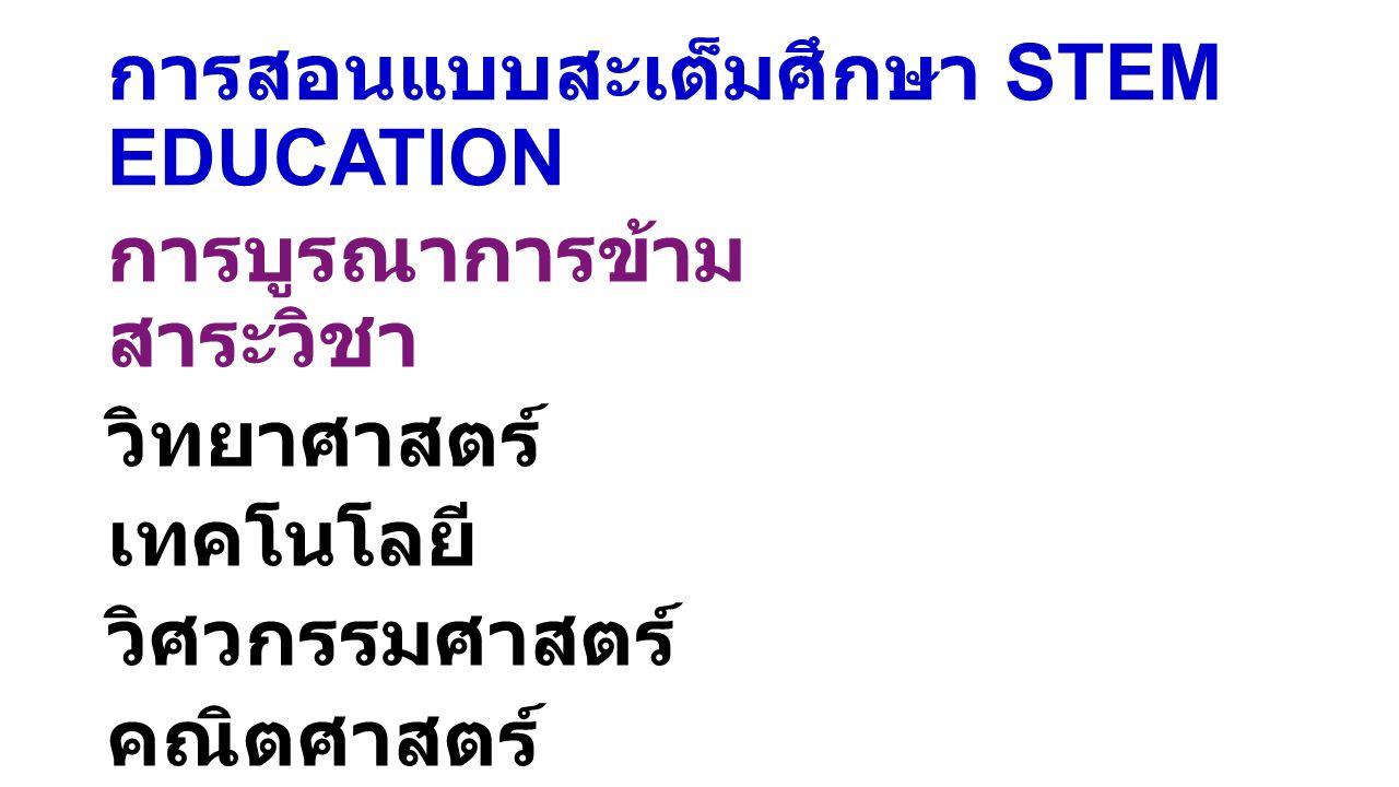 การสอนแบบสะเต็มศึกษา STEM EDUCATION