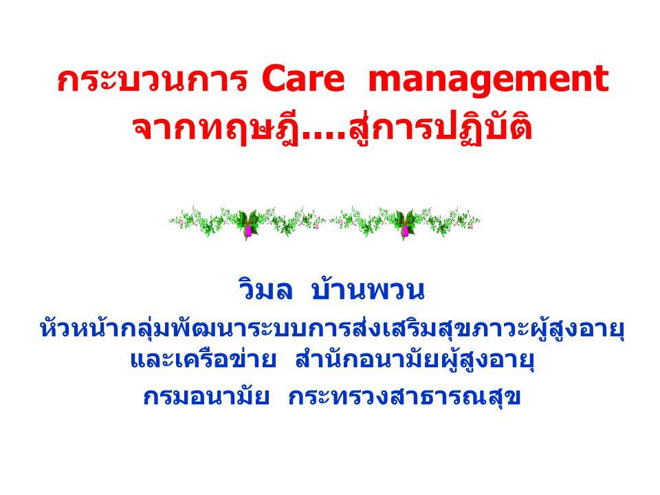 กระบวนการ Care management จากทฤษฎี....สู่การปฏิบัติ