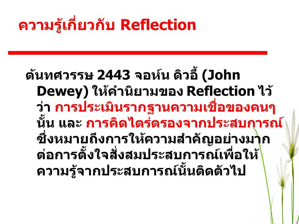 ความรู้เกี่ยวกับ Reflection