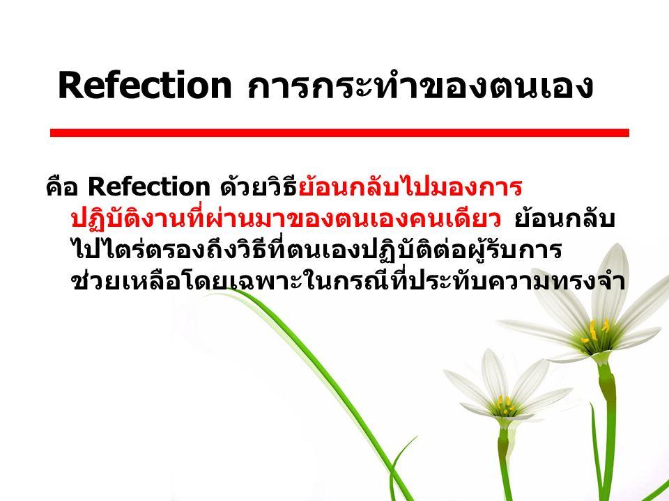 Refection การกระทำของตนเอง