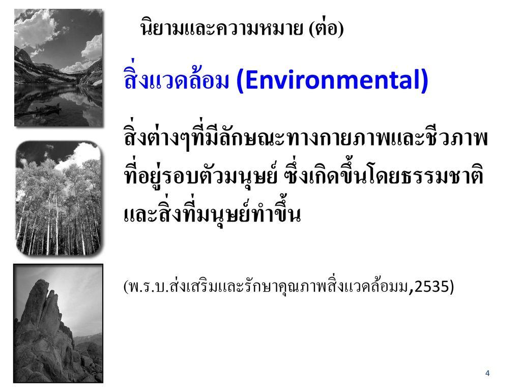 สิ่งแวดล้อม (Environmental)