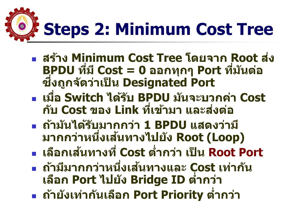 Steps 2: Minimum Cost Tree