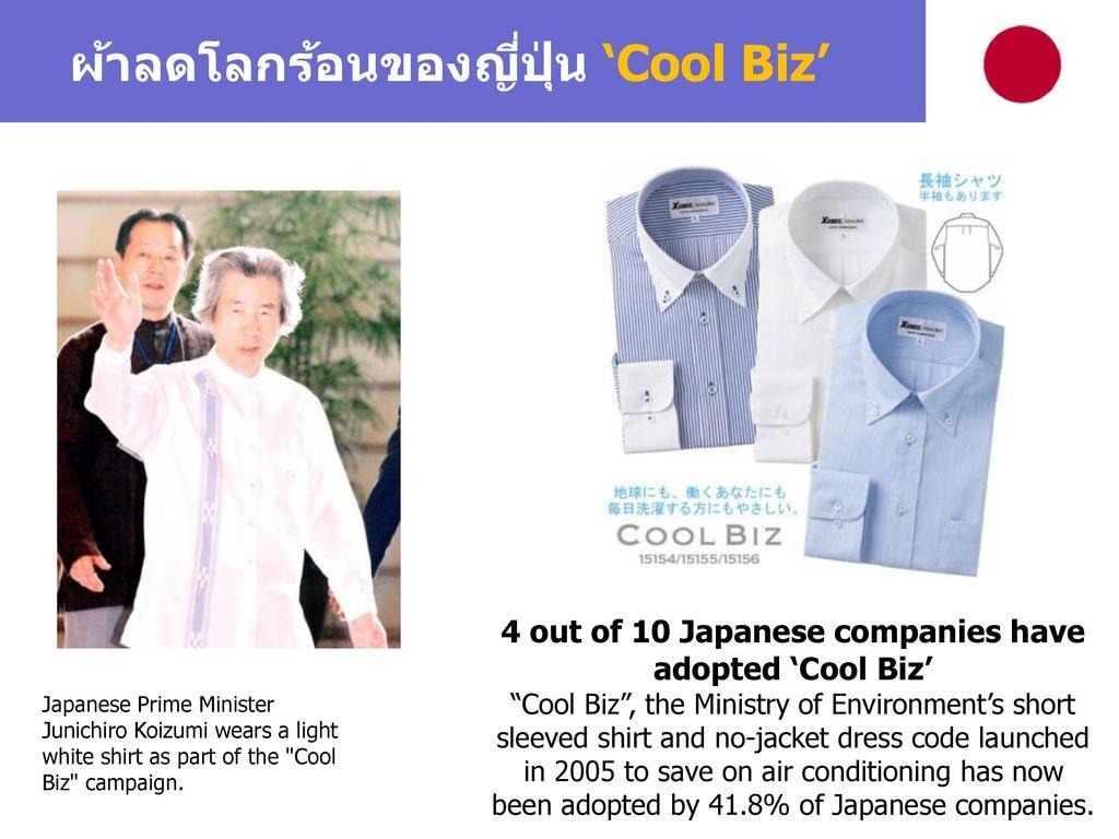 ผ้าลดโลกร้อนของญี่ปุ่น 'Cool Biz'
