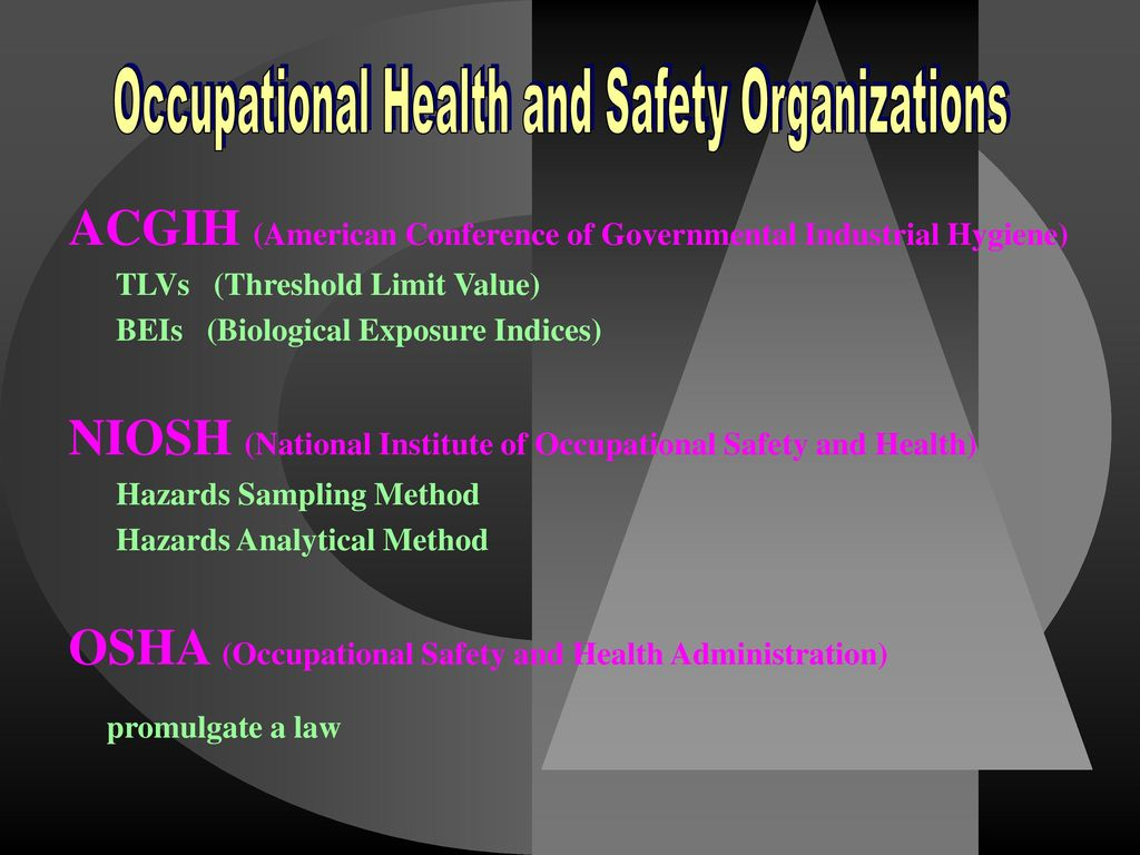 Occupational Health and Safety Organizations