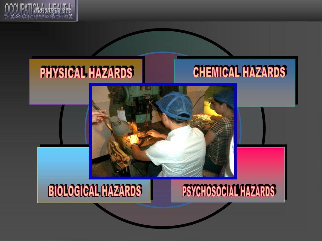 PHYSICAL HAZARDS PHYSICAL HAZARDS CHEMICAL HAZARDS BIOLOGICAL HAZARDS