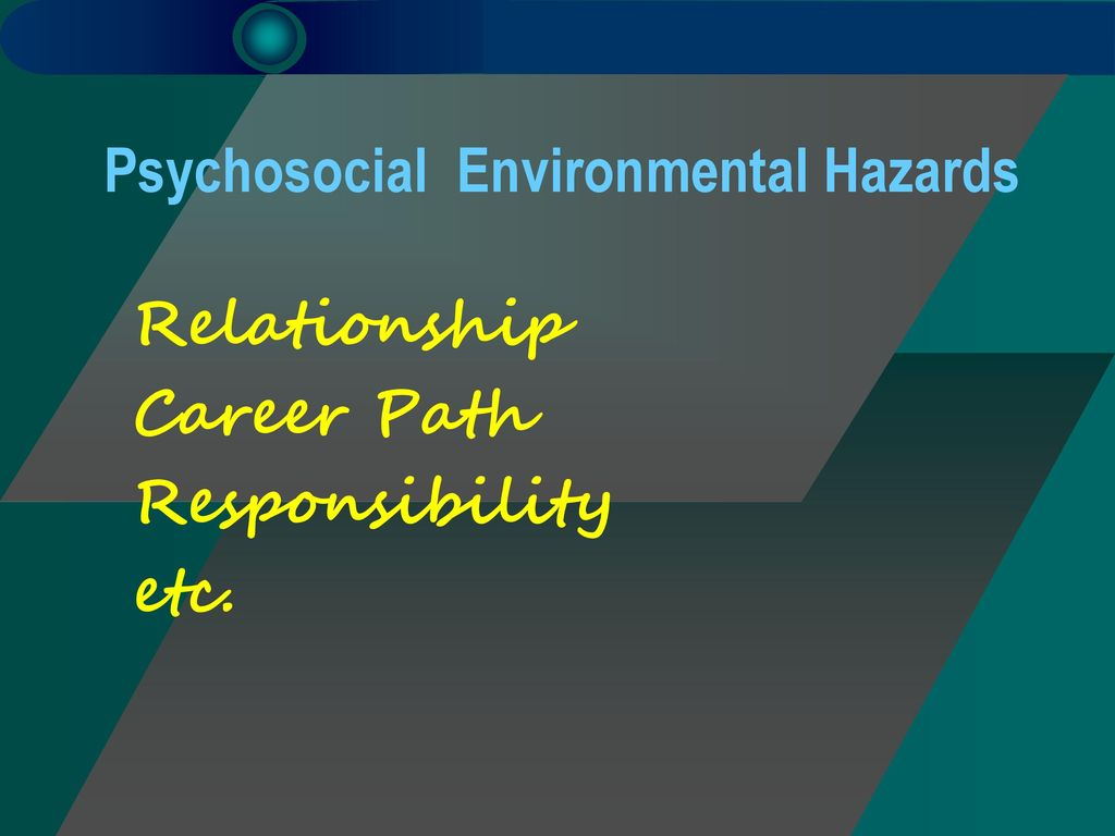 Psychosocial Environmental Hazards