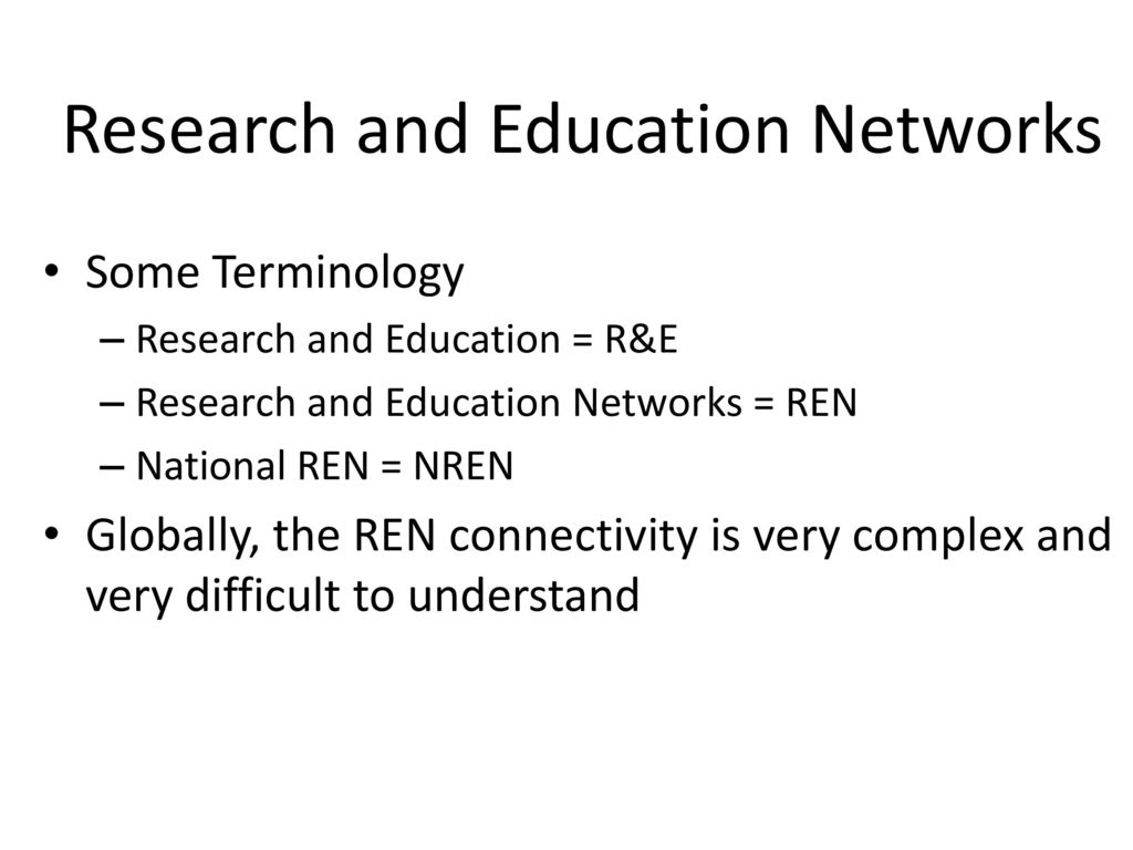 research and terminology