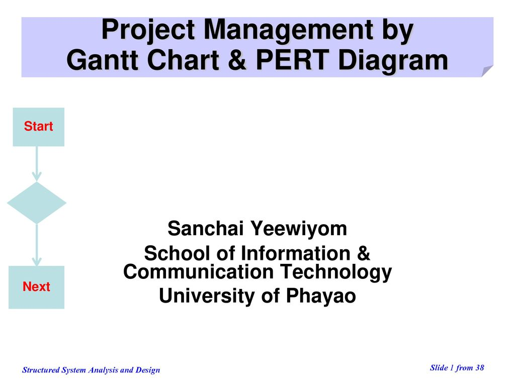 Project Management by Gantt Chart & PERT Diagram