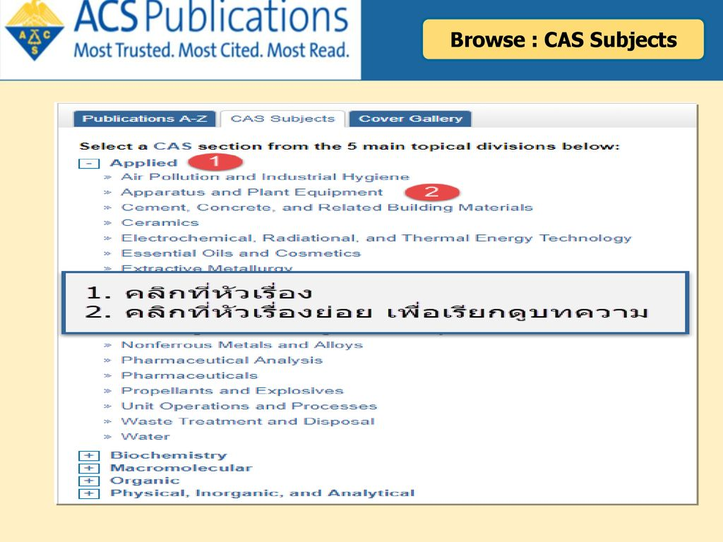 Browse : CAS Subjects