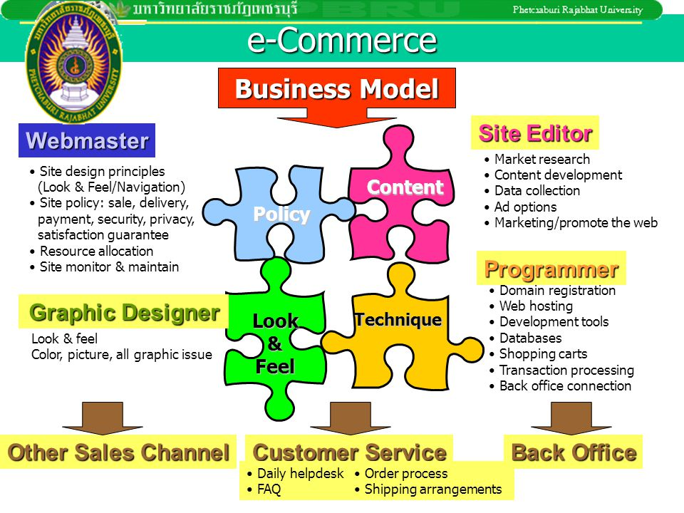 e-Commerce Business Model Site Editor Webmaster Programmer