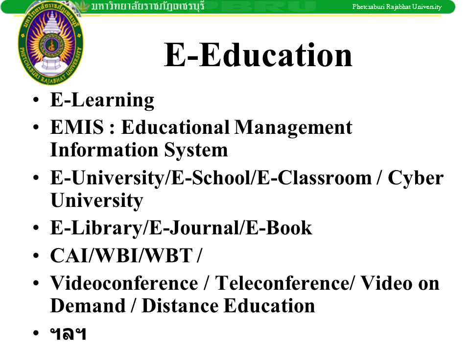 E-Education E-Learning
