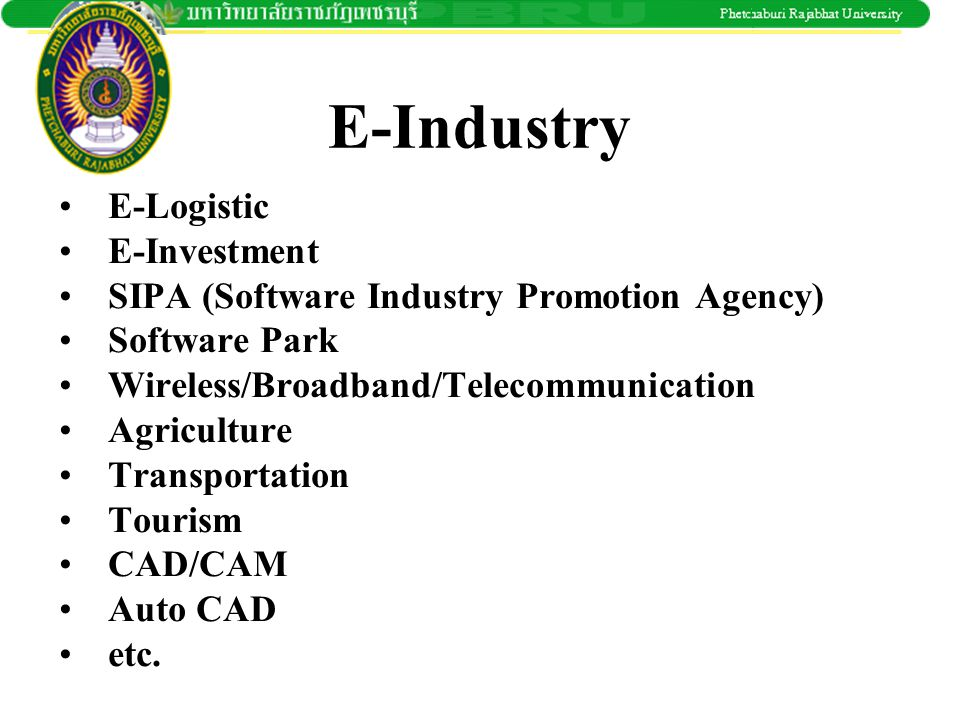 E-Industry E-Logistic E-Investment