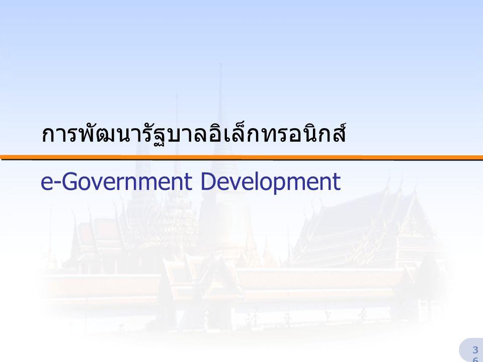 การพัฒนารัฐบาลอิเล็กทรอนิกส์