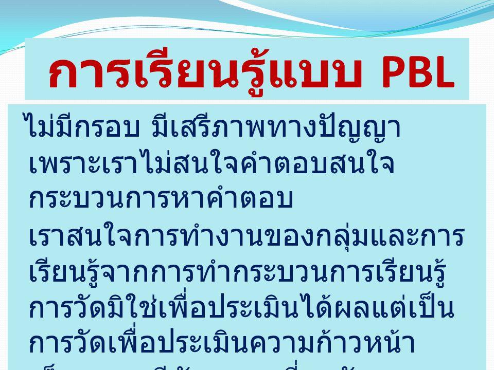 การเรียนรู้แบบ PBL