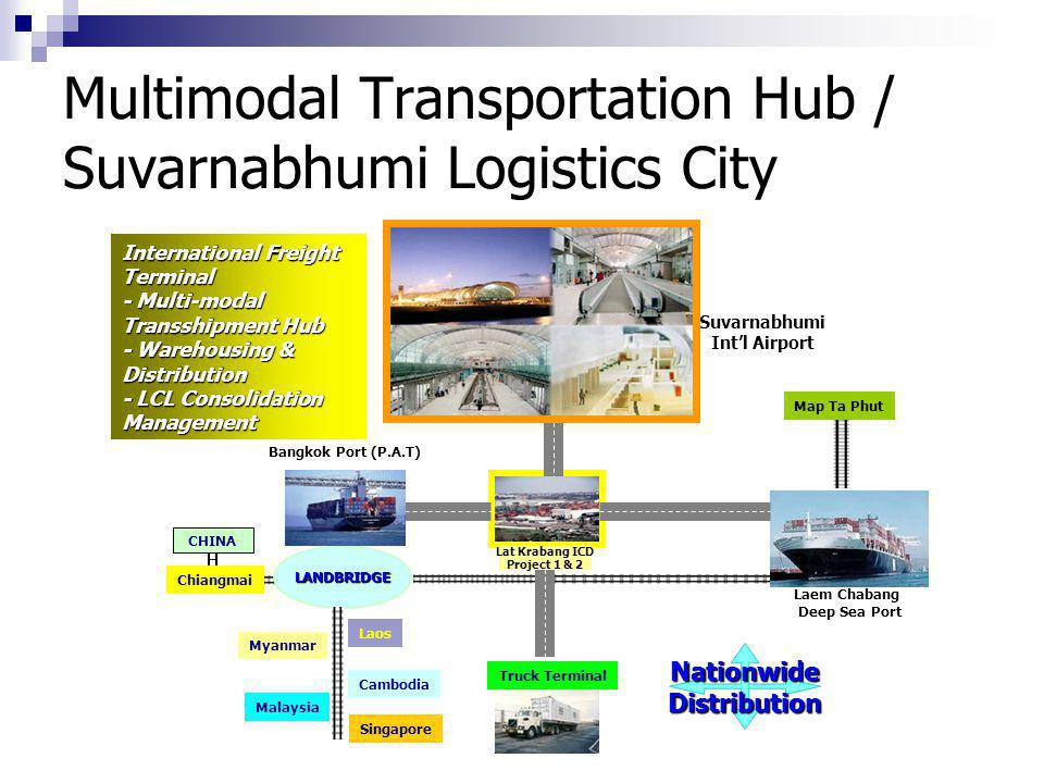 Multimodal Transportation Hub / Suvarnabhumi Logistics City