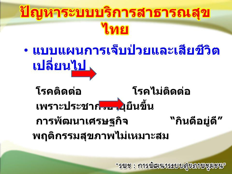ปัญหาระบบบริการสาธารณสุขไทย