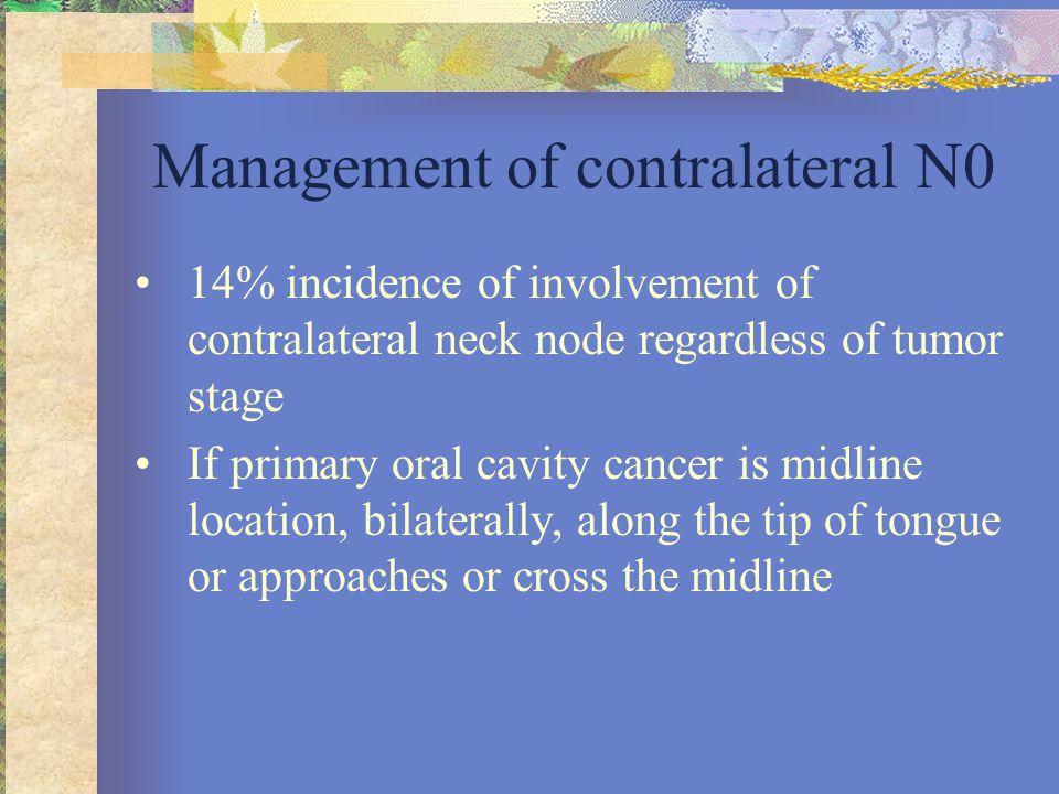Management of contralateral N0