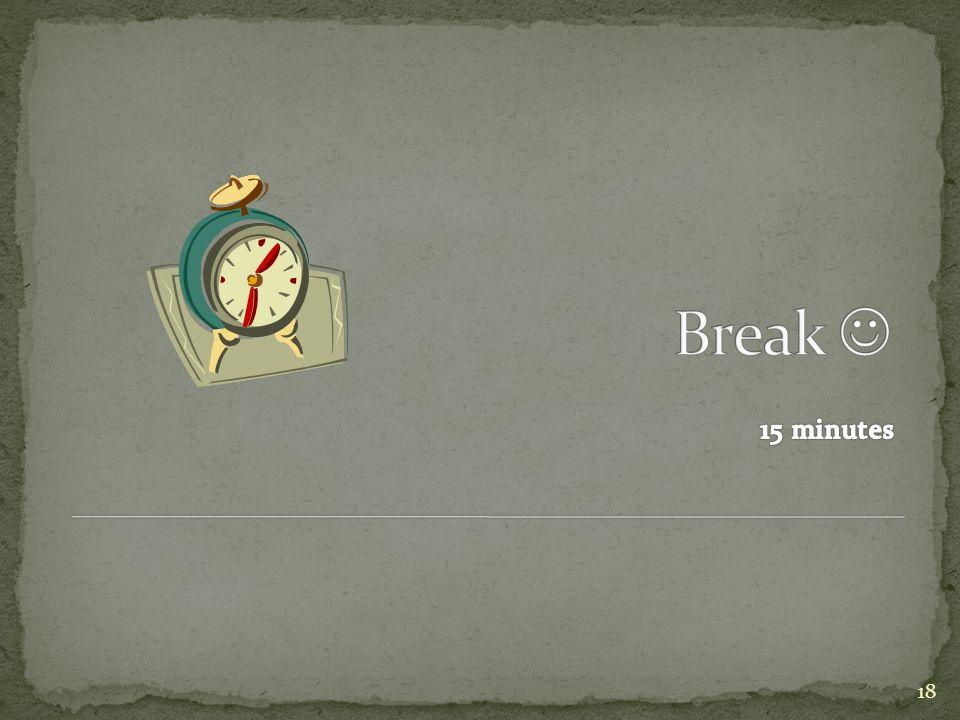 Break  15 minutes