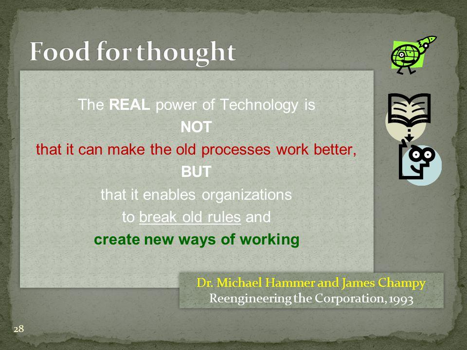 create new ways of working