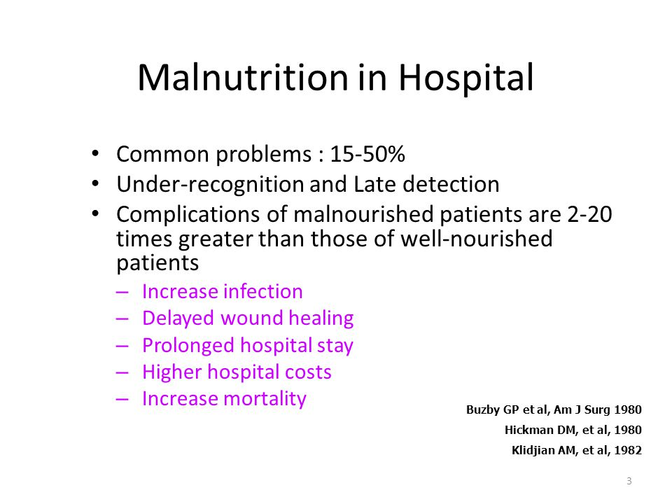 Malnutrition in Hospital