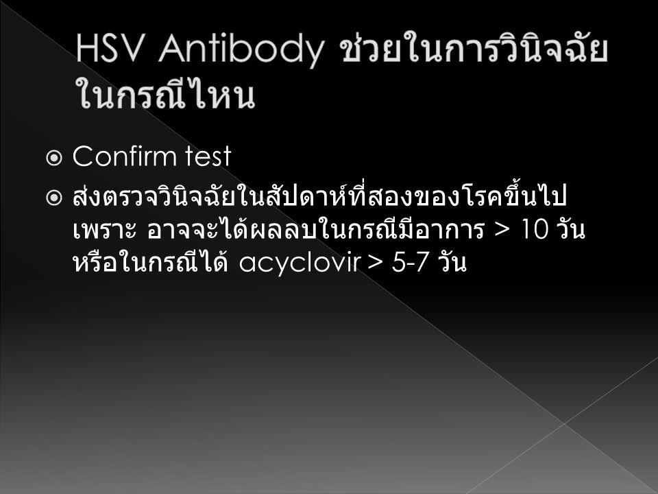 HSV Antibody ช่วยในการวินิจฉัยในกรณีไหน