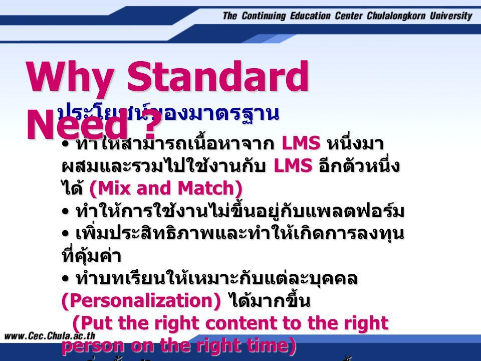 Why Standard Need ประโยชน์ของมาตรฐาน
