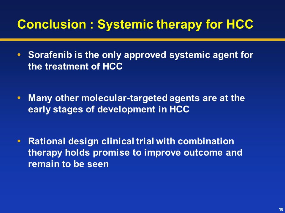 Conclusion : Systemic therapy for HCC