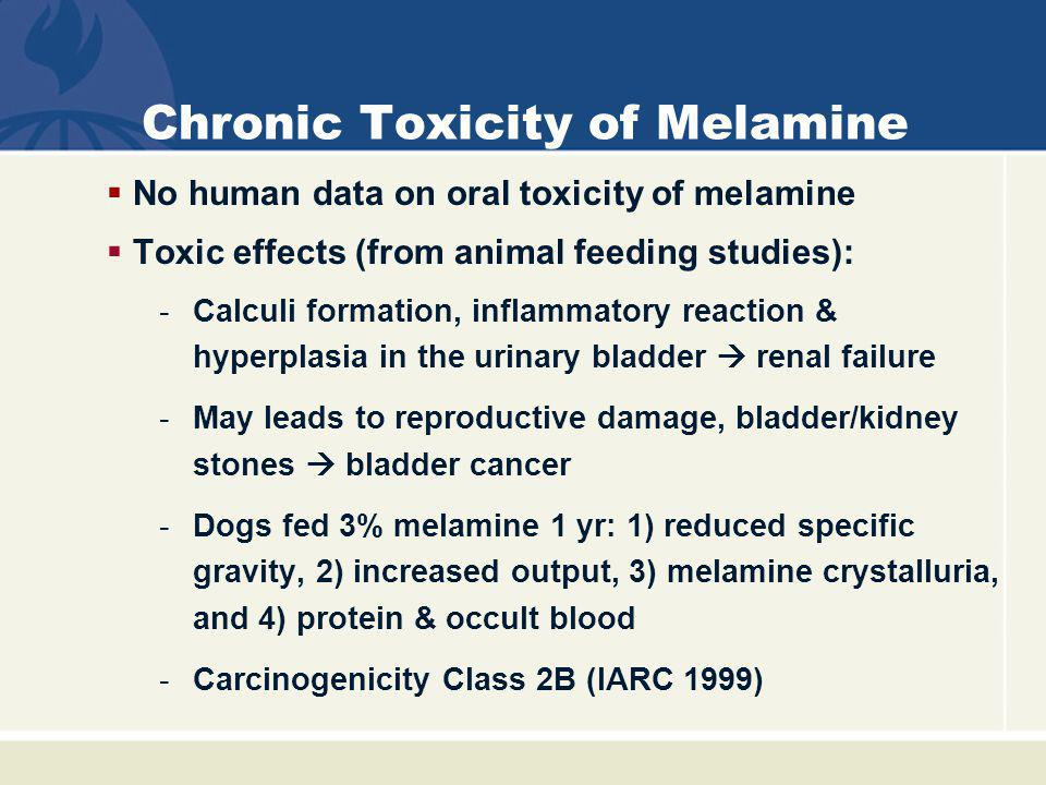 Chronic Toxicity of Melamine