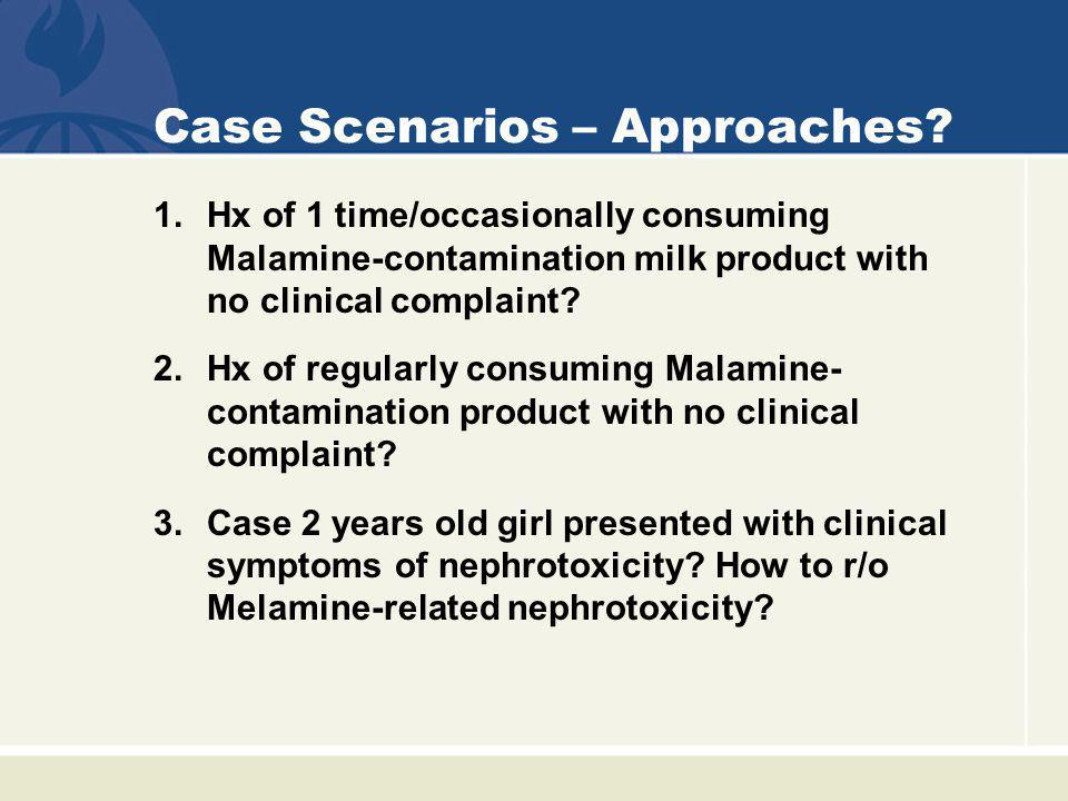 Case Scenarios – Approaches