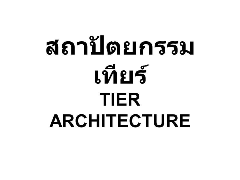 สถาปัตยกรรมเทียร์ TIER ARCHITECTURE