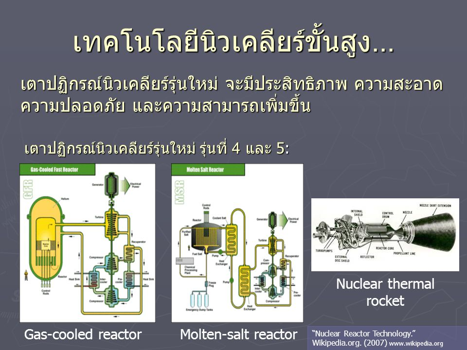 เทคโนโลยีนิวเคลียร์ขั้นสูง...
