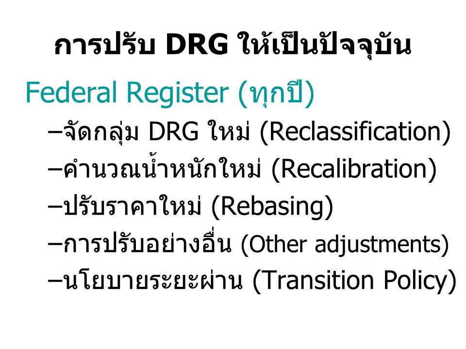 การปรับ DRG ให้เป็นปัจจุบัน