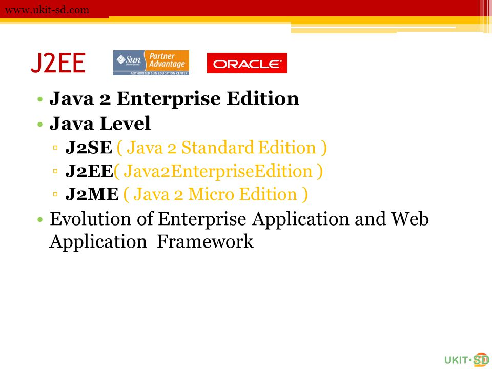 J2EE Java 2 Enterprise Edition Java Level