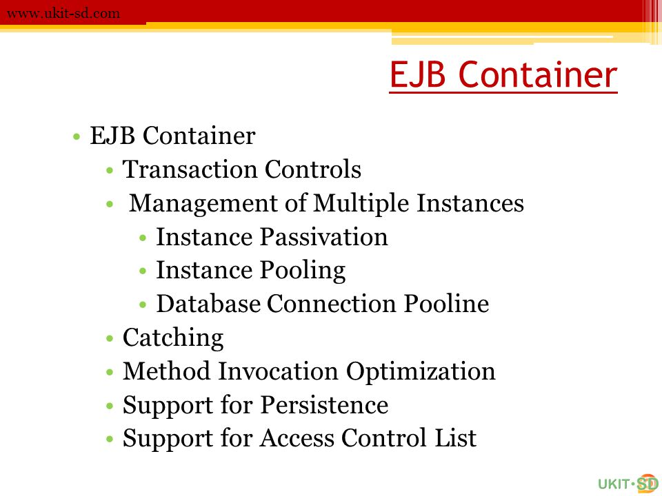 EJB Container EJB Container Transaction Controls