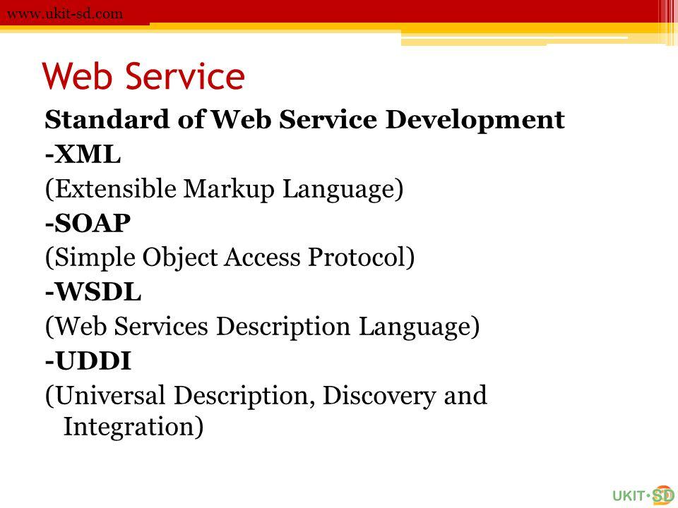 Web Service Standard of Web Service Development -XML