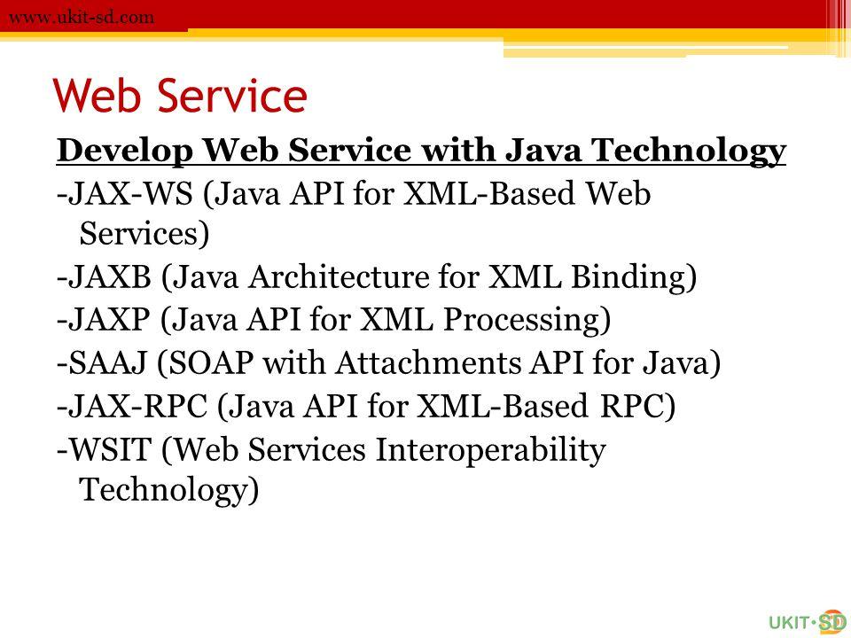Web Service Develop Web Service with Java Technology