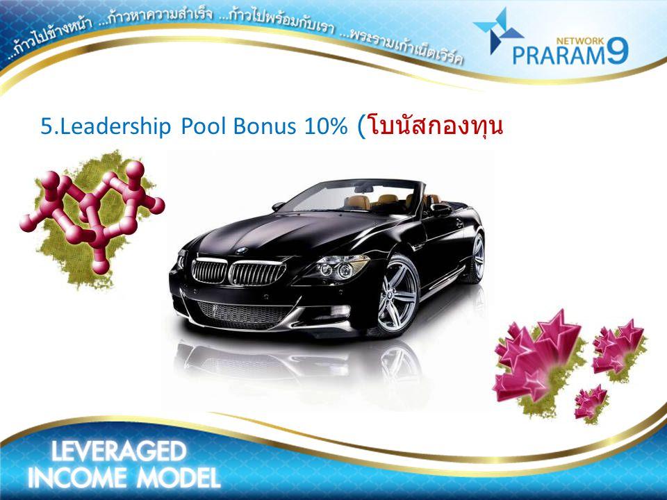 5.Leadership Pool Bonus 10% (โบนัสกองทุนผู้นำ)