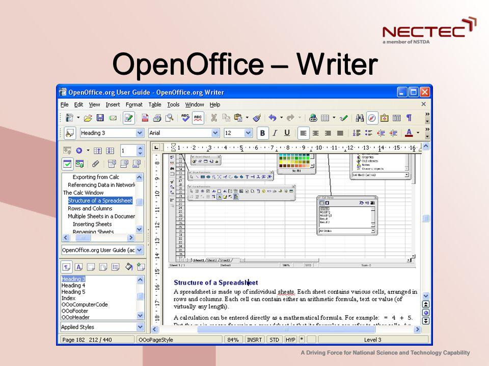 OpenOffice – Writer