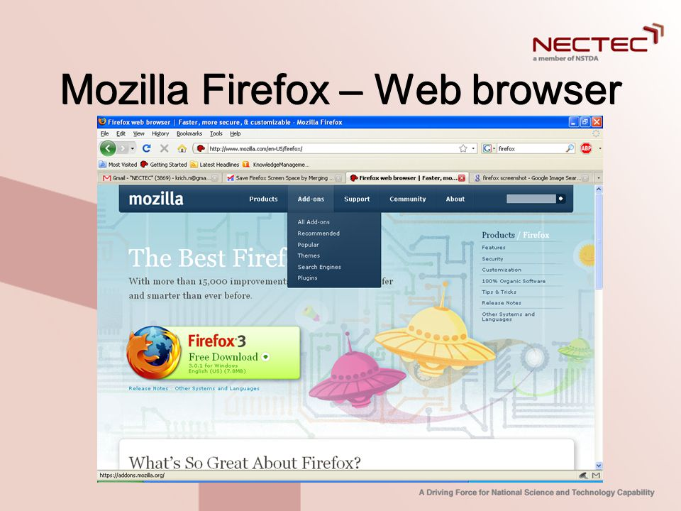 Mozilla Firefox – Web browser