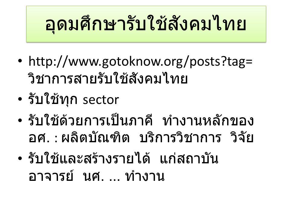 อุดมศึกษารับใช้สังคมไทย