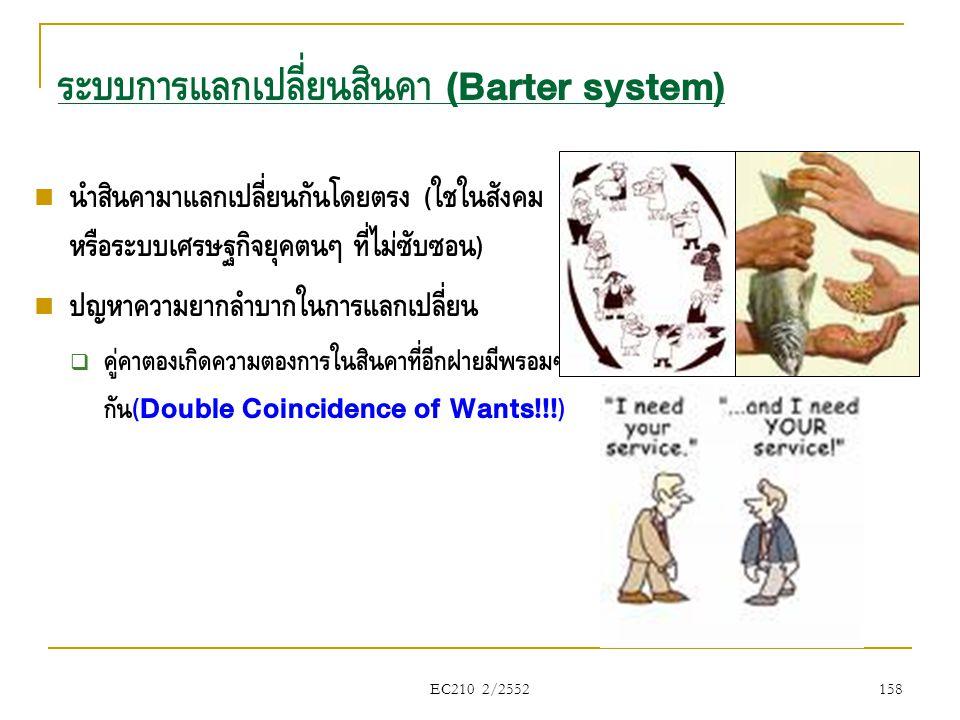 ระบบการแลกเปลี่ยนสินค้า (Barter system)