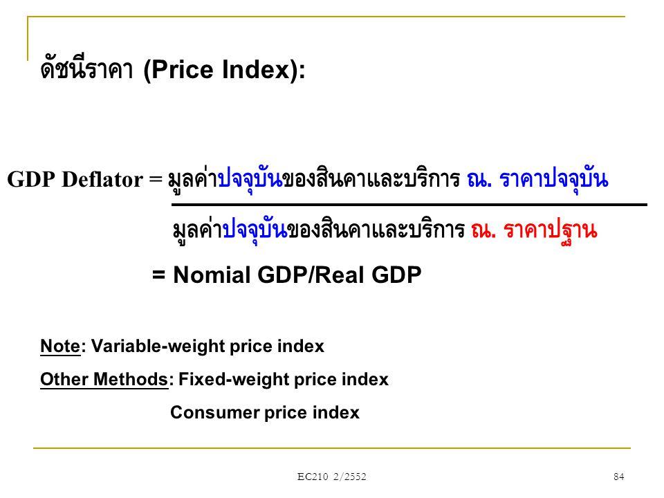 ดัชนีราคา (Price Index):